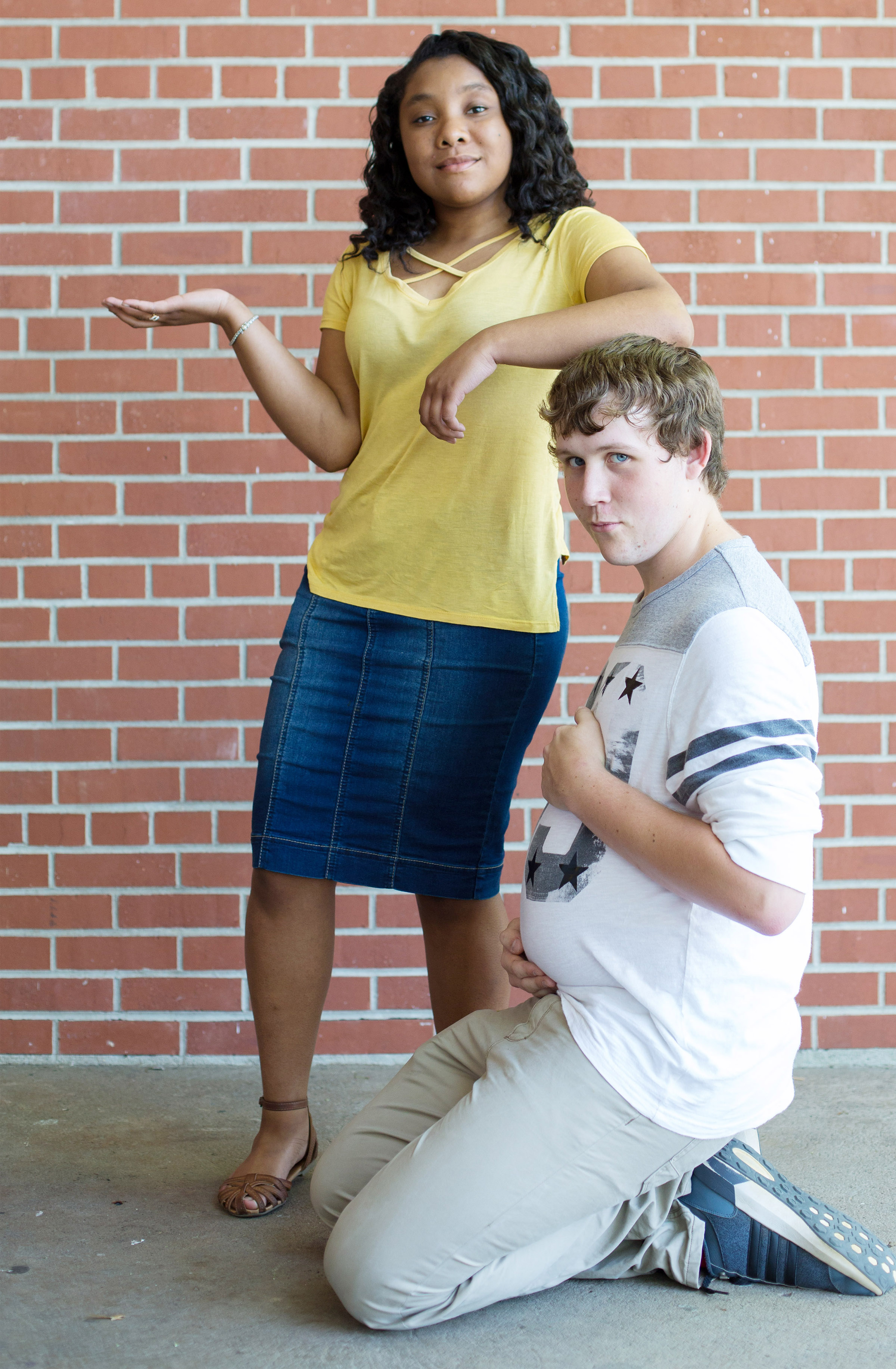 Kayla Atkinson and Jared Brewster were voted Class Clown.