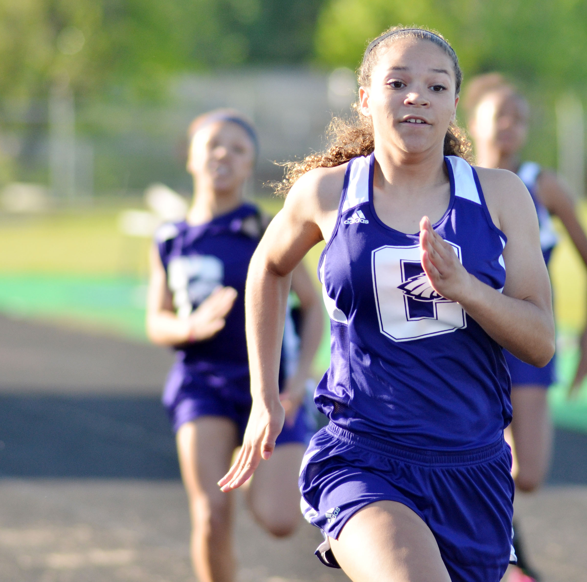 CHS freshman Taliyah Hazelwood finished 11th and 10th in the 100- and 200-meter dashes, respectively.