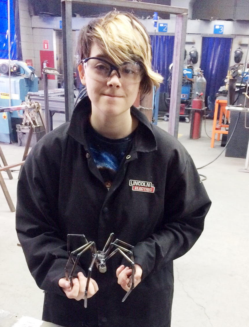 CHS junior Chloe Decker made this spider as a project in her welding class.