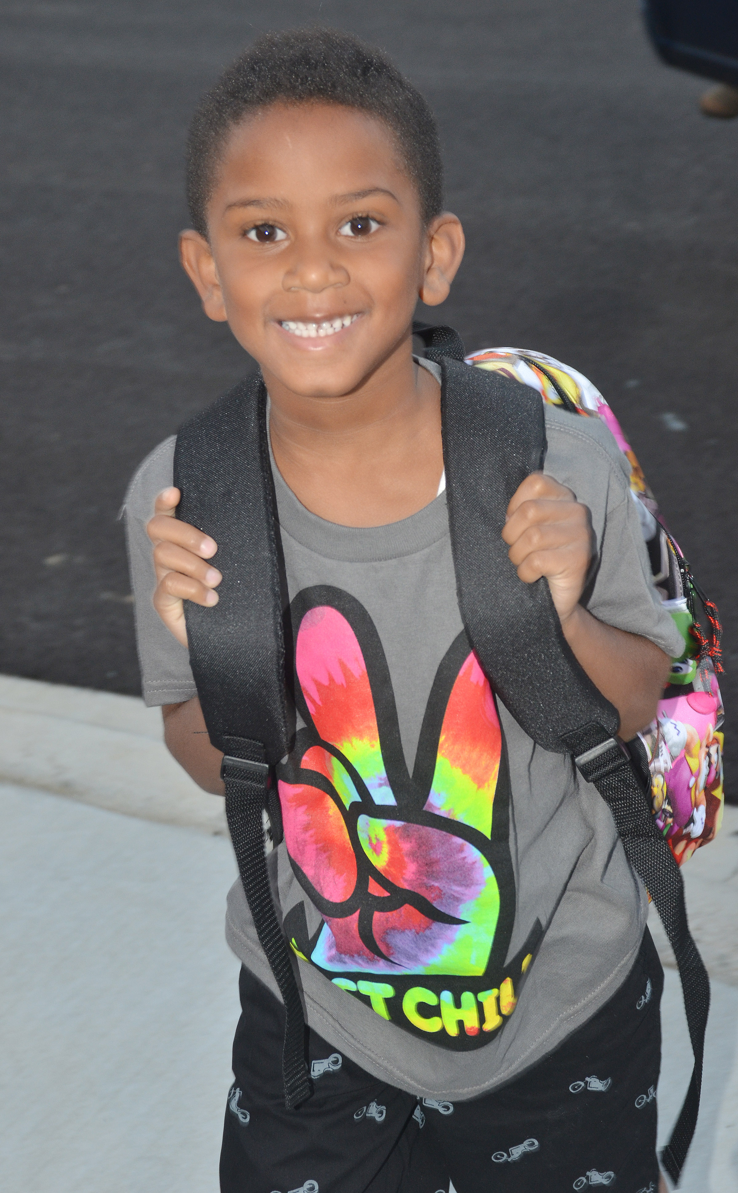 CES first-grader Kasen Smith is all smiles on the first day of school.
