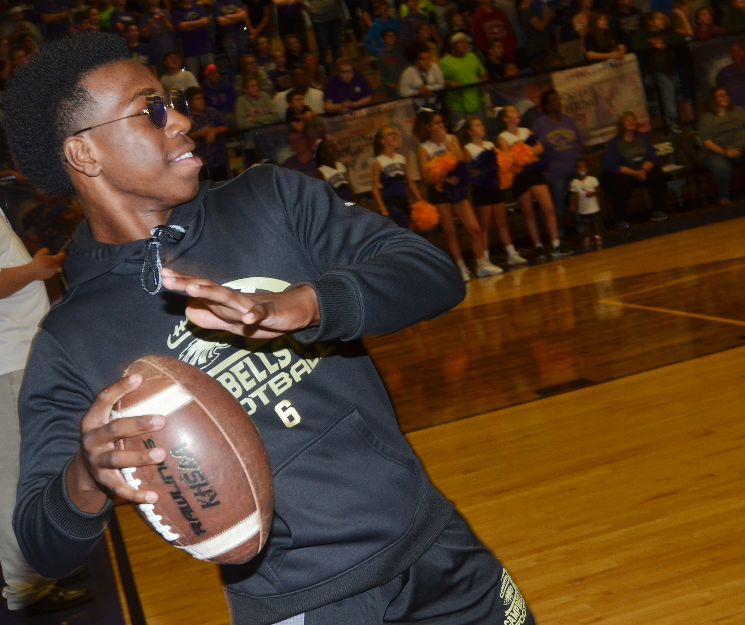 CHS sophomore Malachi Corley competes in a spirit game.