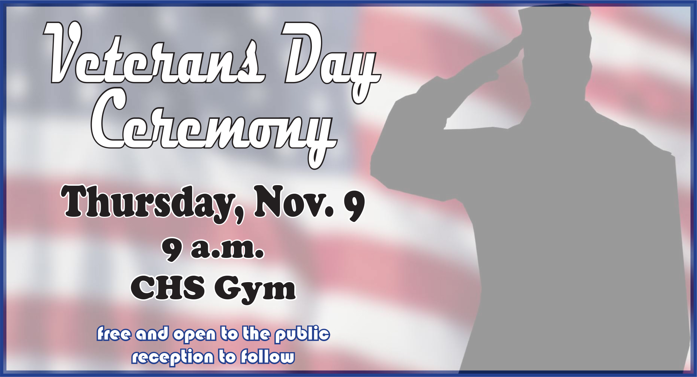 Campbellsville Independent Schools will host a Veterans Day program for local veterans and community members.    The special ceremony will be on Thursday, Nov. 9, at 9 a.m. in the Campbellsville High School gym.    Campbellsville elementary, middle and high school students will present the program.