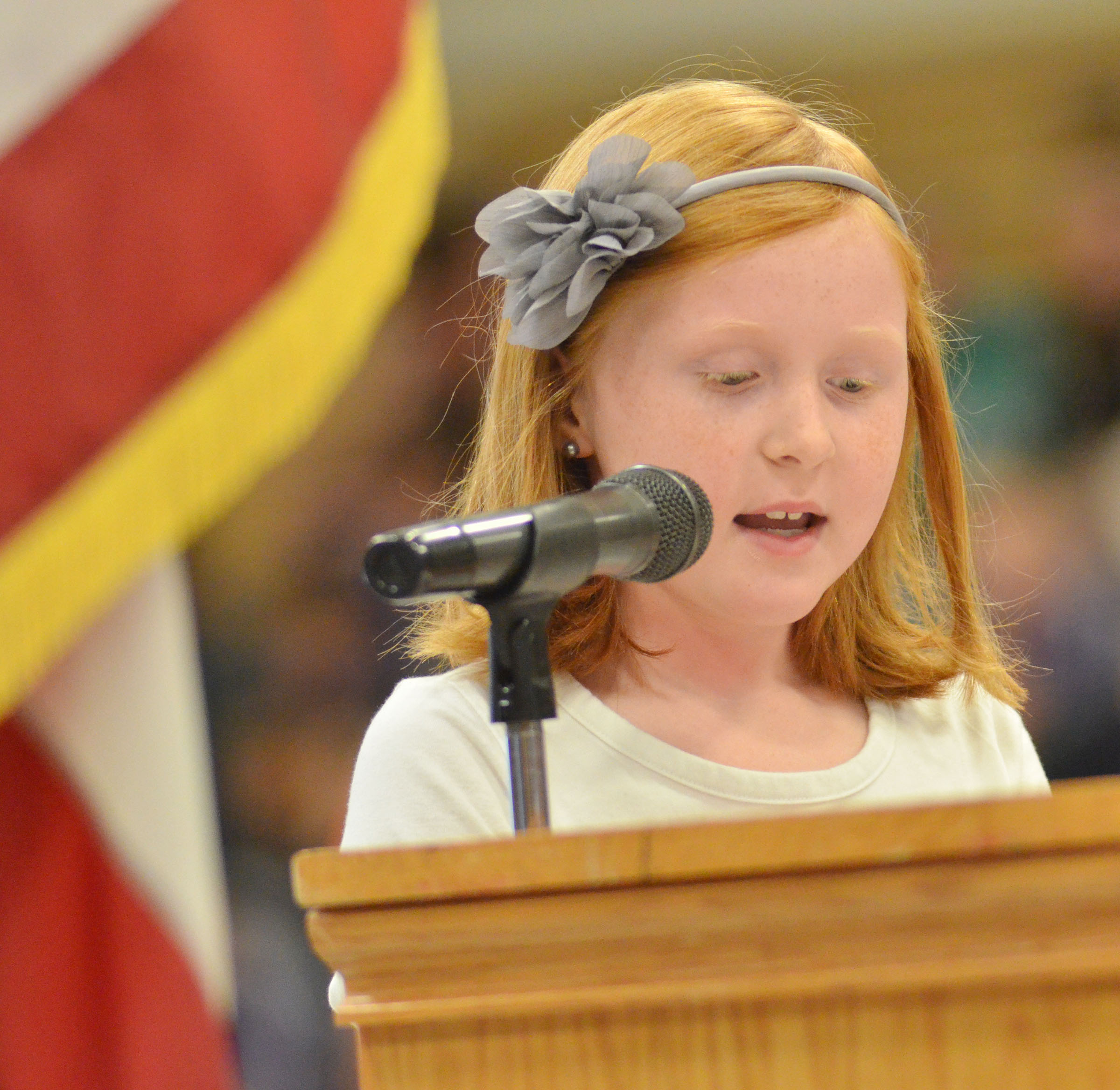 CES third-grader Nora Harris talks about what Veterans Day means to her.