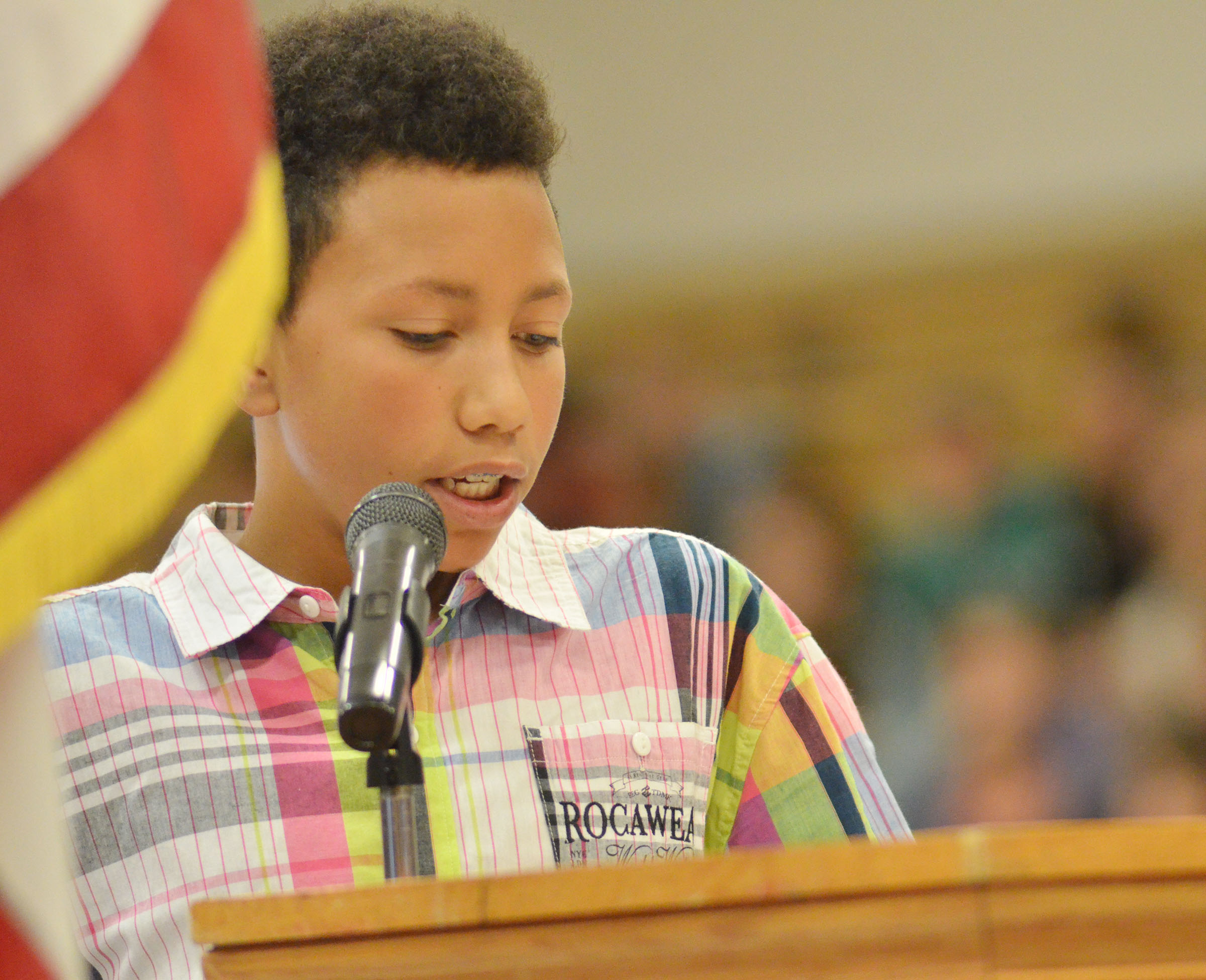 CMS eighth-grader Jastyn Shively says what Veterans Day means to them.