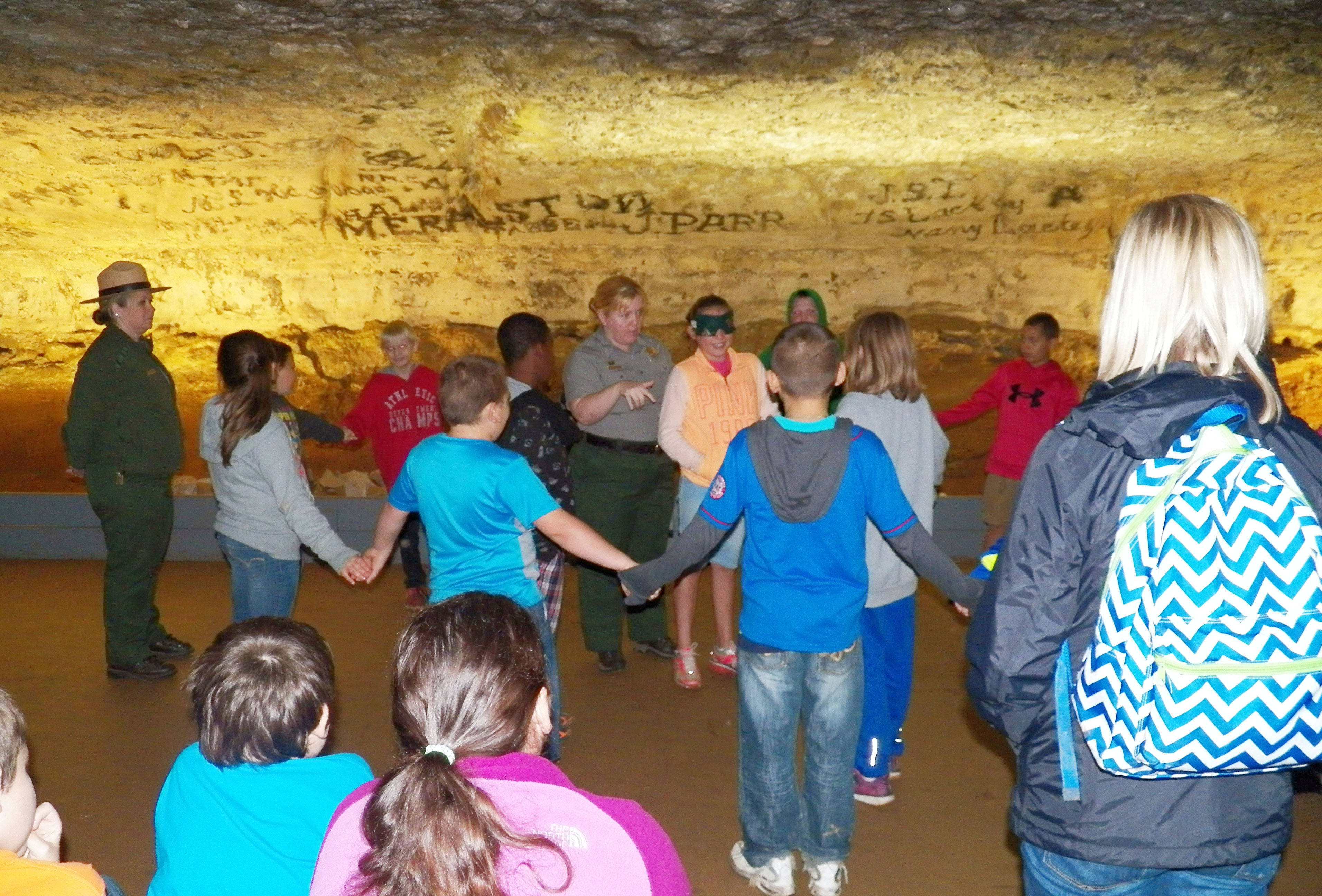 CMS fourth-graders learn about Mammoth Cave.