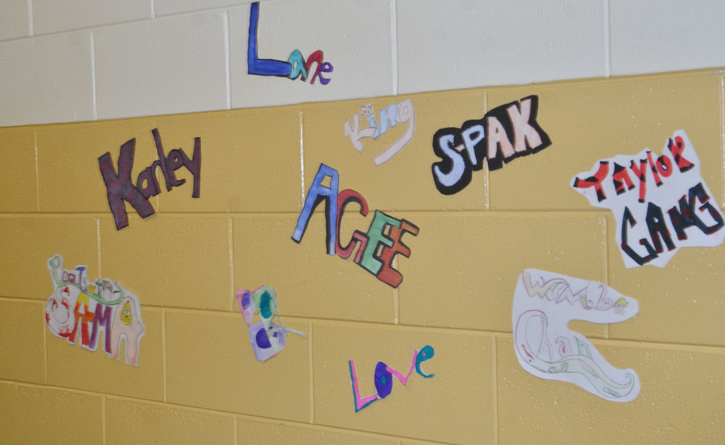 CMS art students made these graffiti tags.