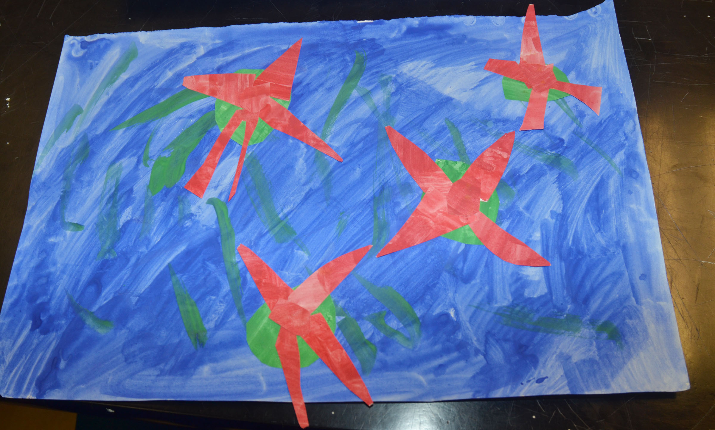 CMS students recently studied Monet and then made their own artwork inspired by his style.