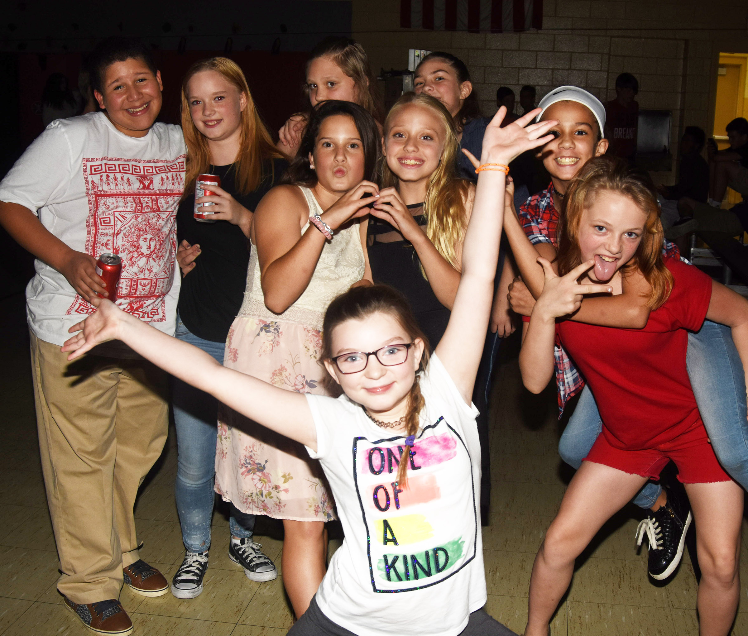 CMS students have fun at the dance.