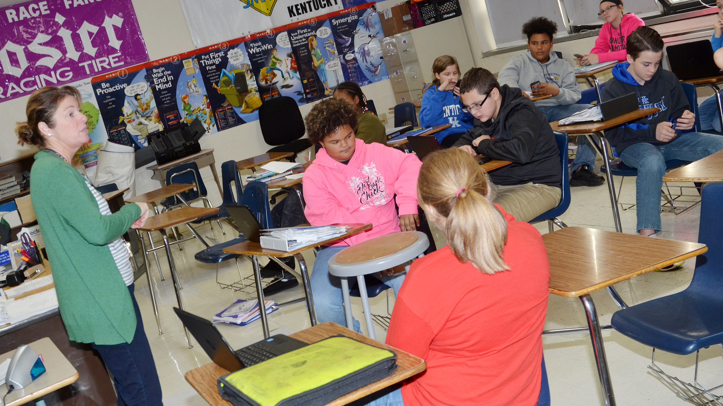 Dee Doss, college and career readiness counselor at Campbellsville High School, recently met with CMS students to talk about why it's important for them to start preparing for college.
