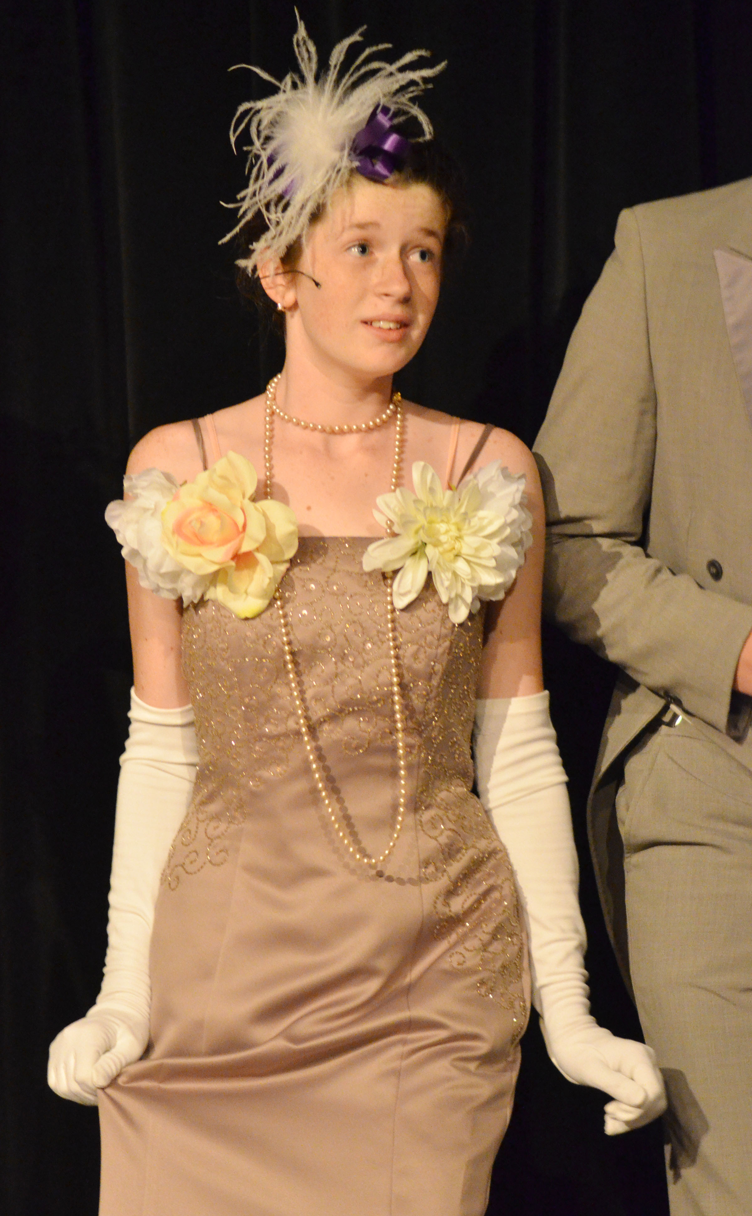"Campbellsville High School freshman Gracyne Hash has been cast in an upcoming production of the classic play ""A Christmas Carol."" Here, she is pictured in a performance of ""My Fair Lady."""