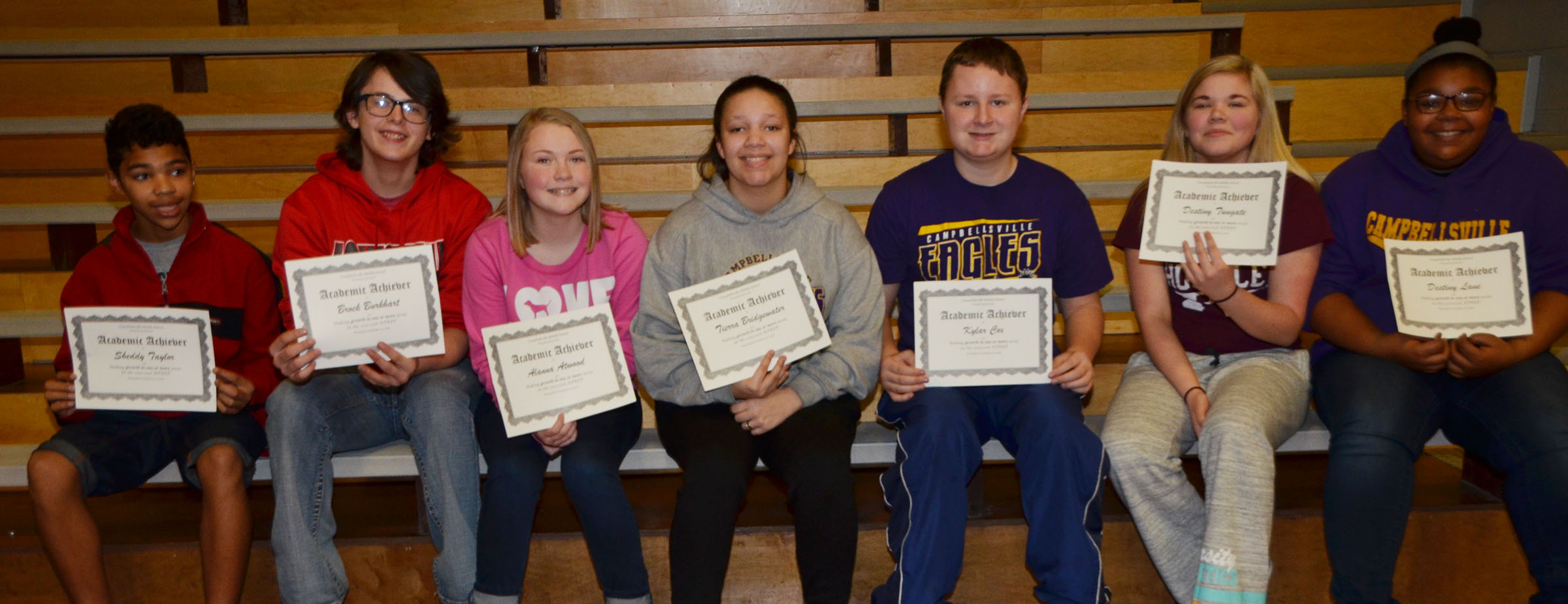 CMS eighth-graders are honored for showing growth in one or more areas on last school year's K-PREP exams.
