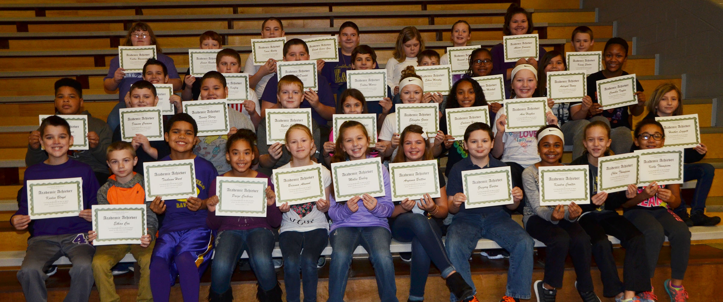 CMS fifth-graders are honored for scoring proficient in one or more areas on last school year's K-PREP exams.