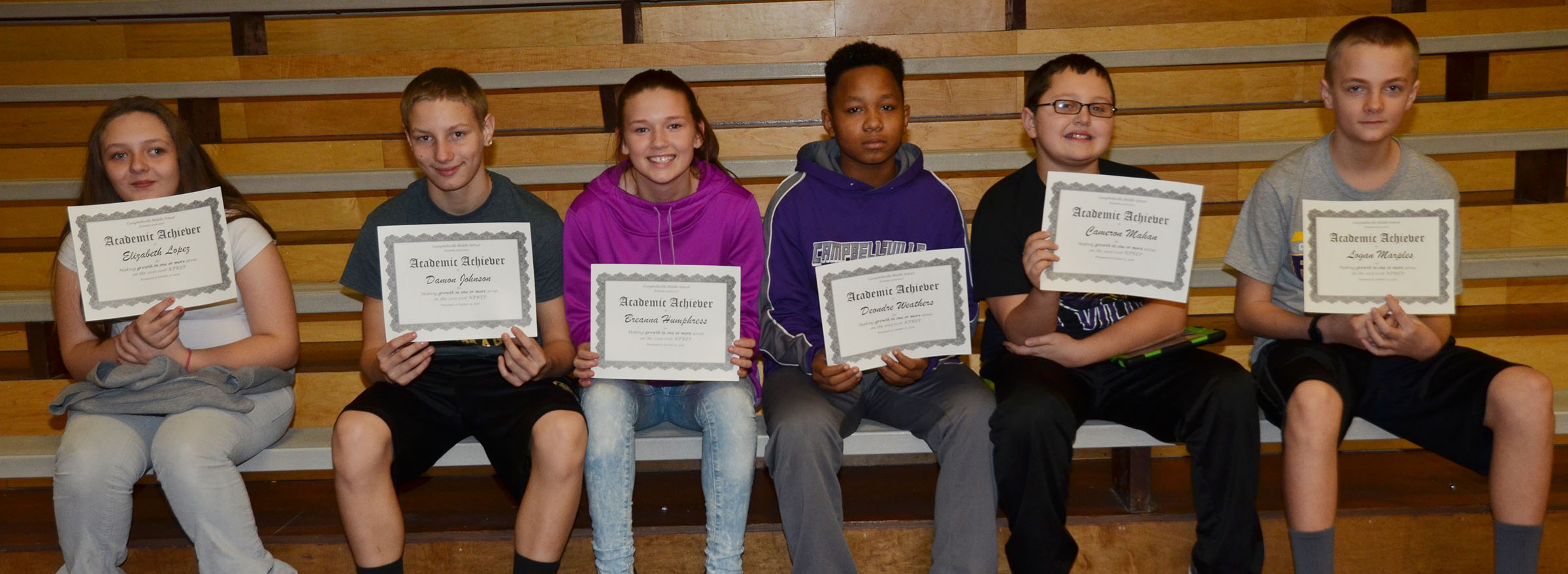 CMS sixth-graders are honored for showing growth in one or more areas on last school year's K-PREP exams.