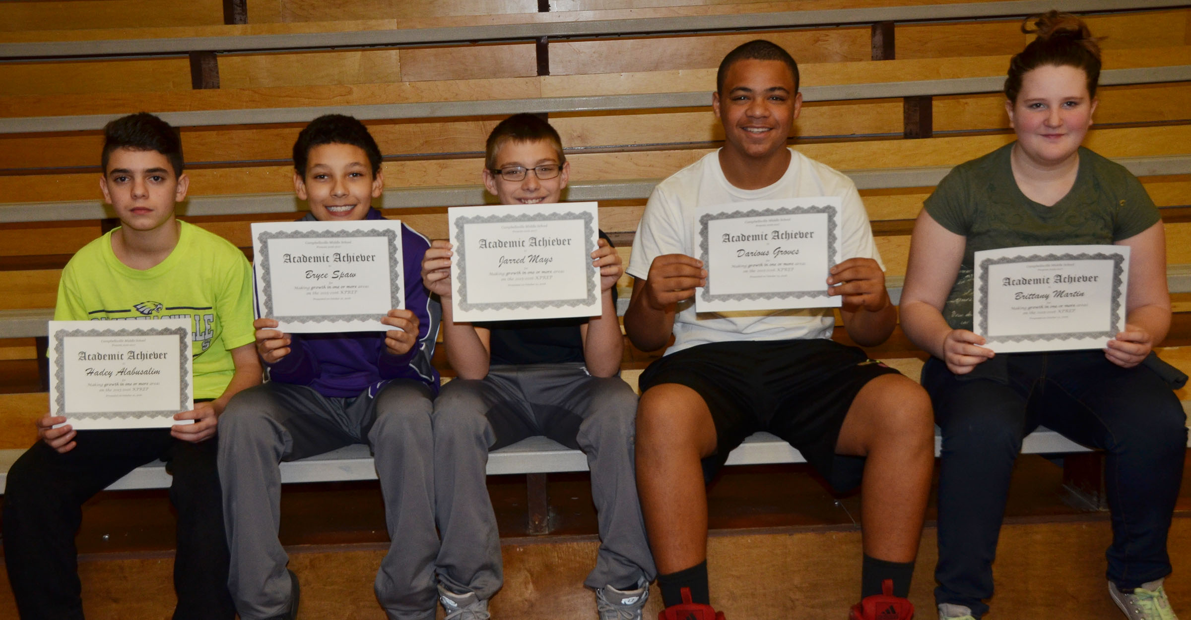CMS seventh-graders are honored for showing growth in one or more areas on last school year's K-PREP exams.