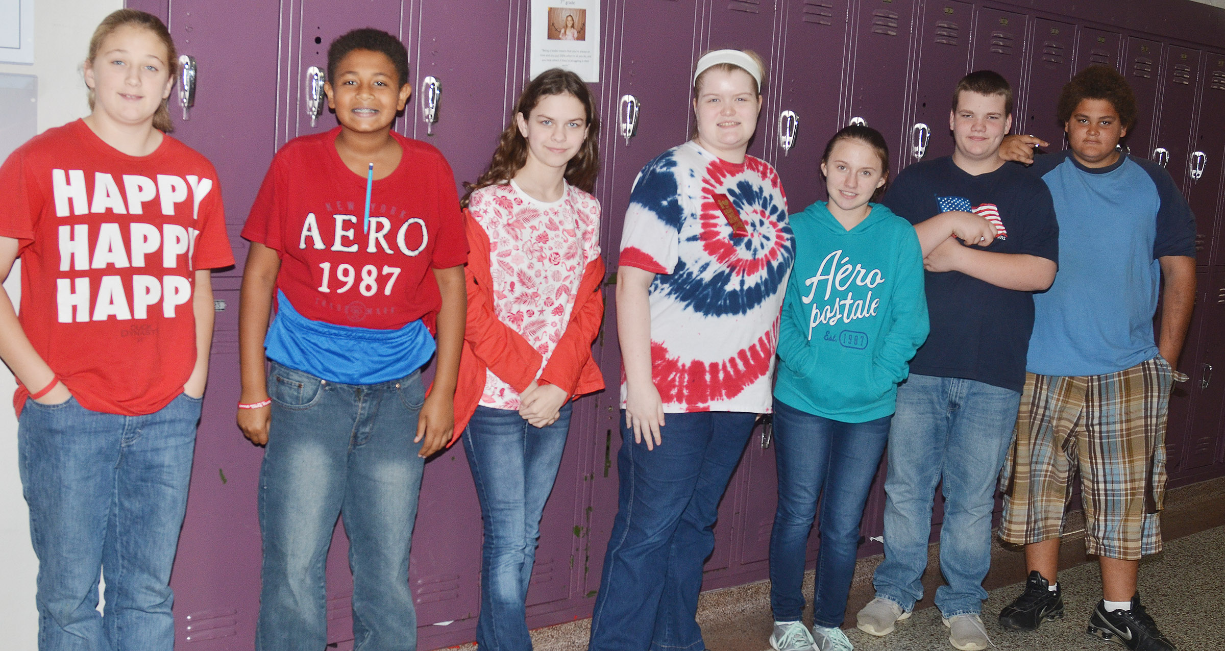 CMS students dress for United We Stand Against Drugs Day.