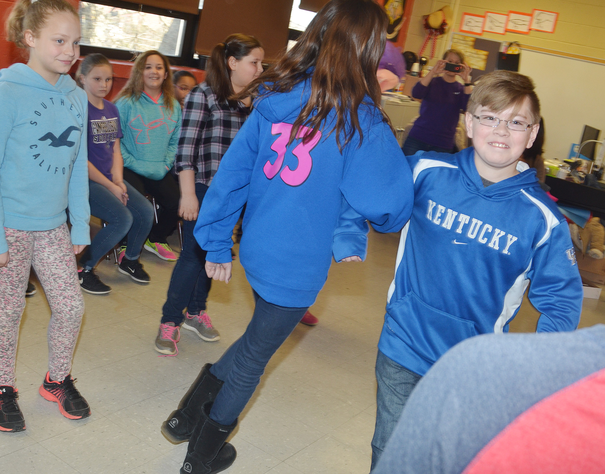 CMS fifth-grader Jovi Bowen dances.