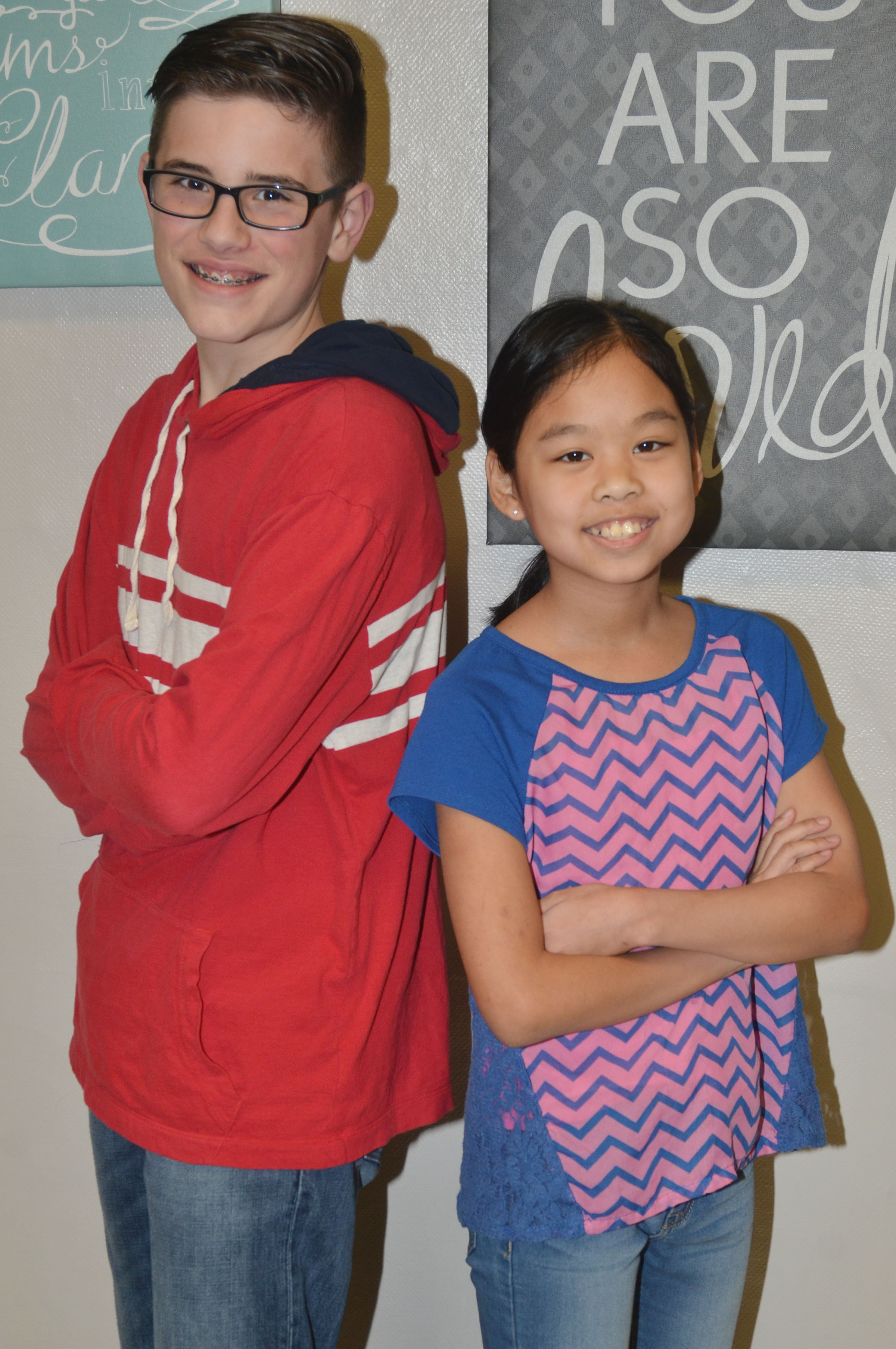 Isaac Garrison and Angelica Seng are Mr. and Miss Fifth Grade.
