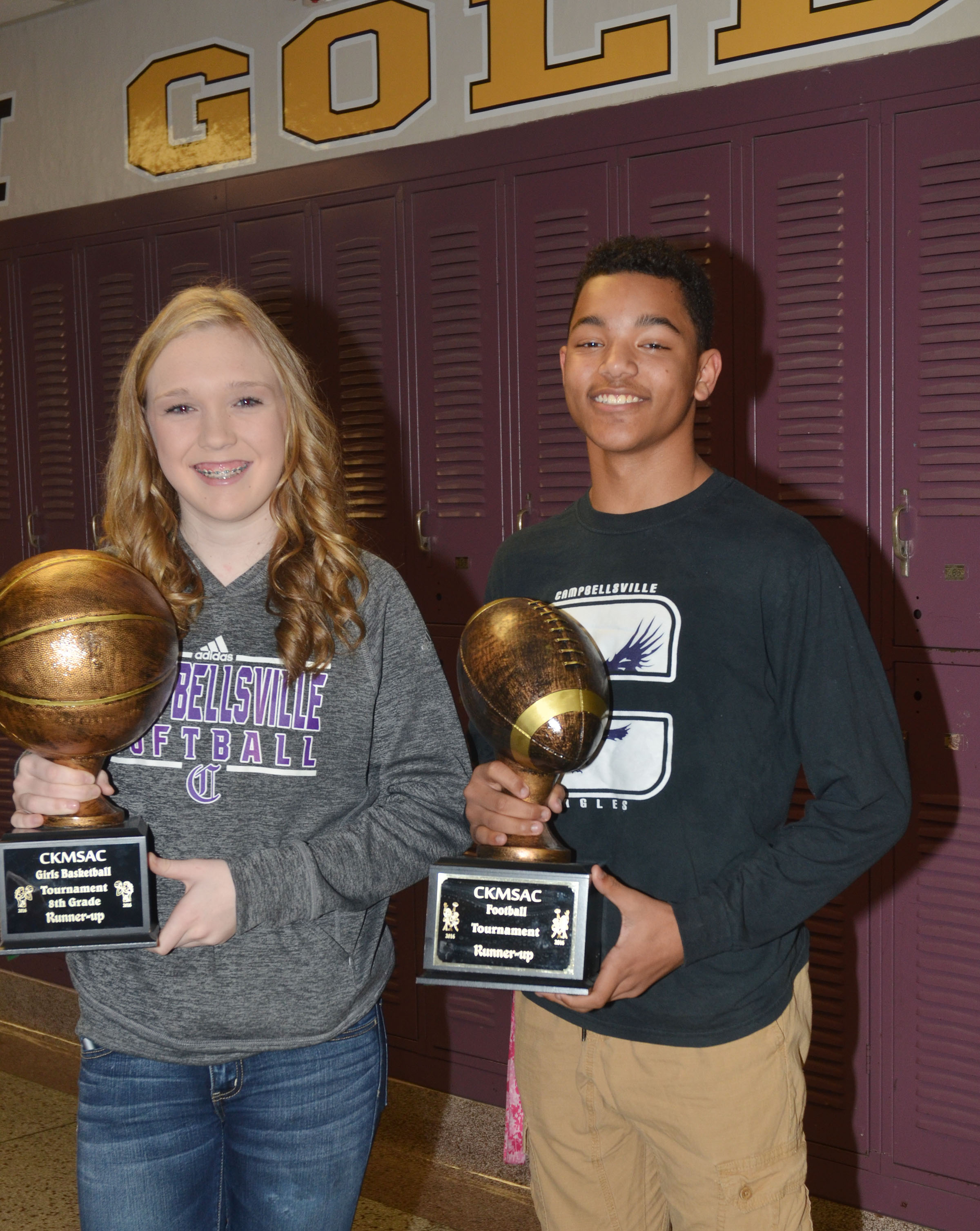 Reggie Thomas and Catlyn Clausen were voted Most Athletic.