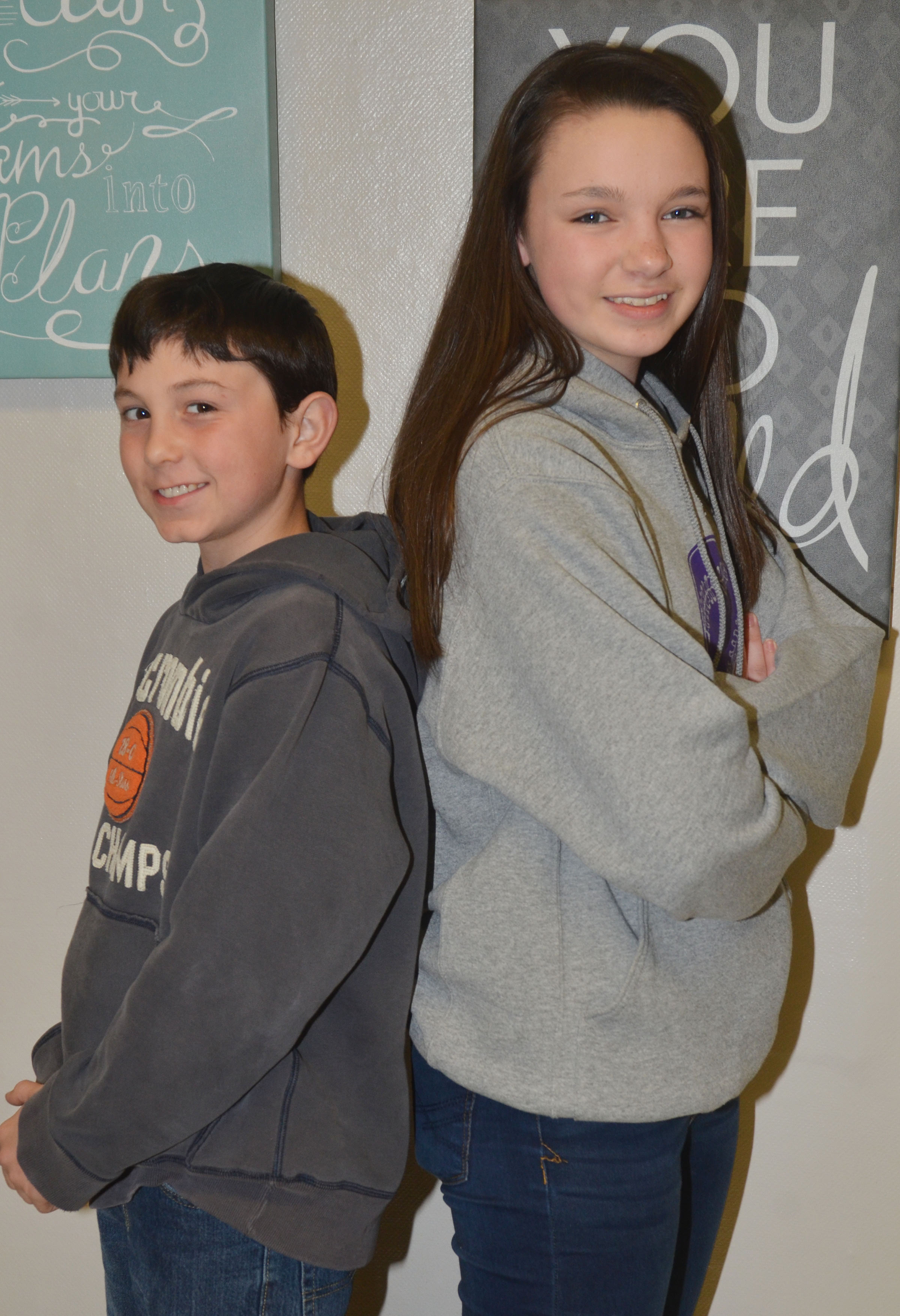 Dakota Harris and Karley Morris are Mr. and Miss Seventh Grade.