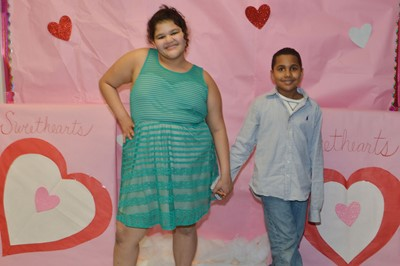 ce6de9ccb0636 CMS fifth-graders Asia Barbour, at left, and Kobe Coulter went to the dance  together.