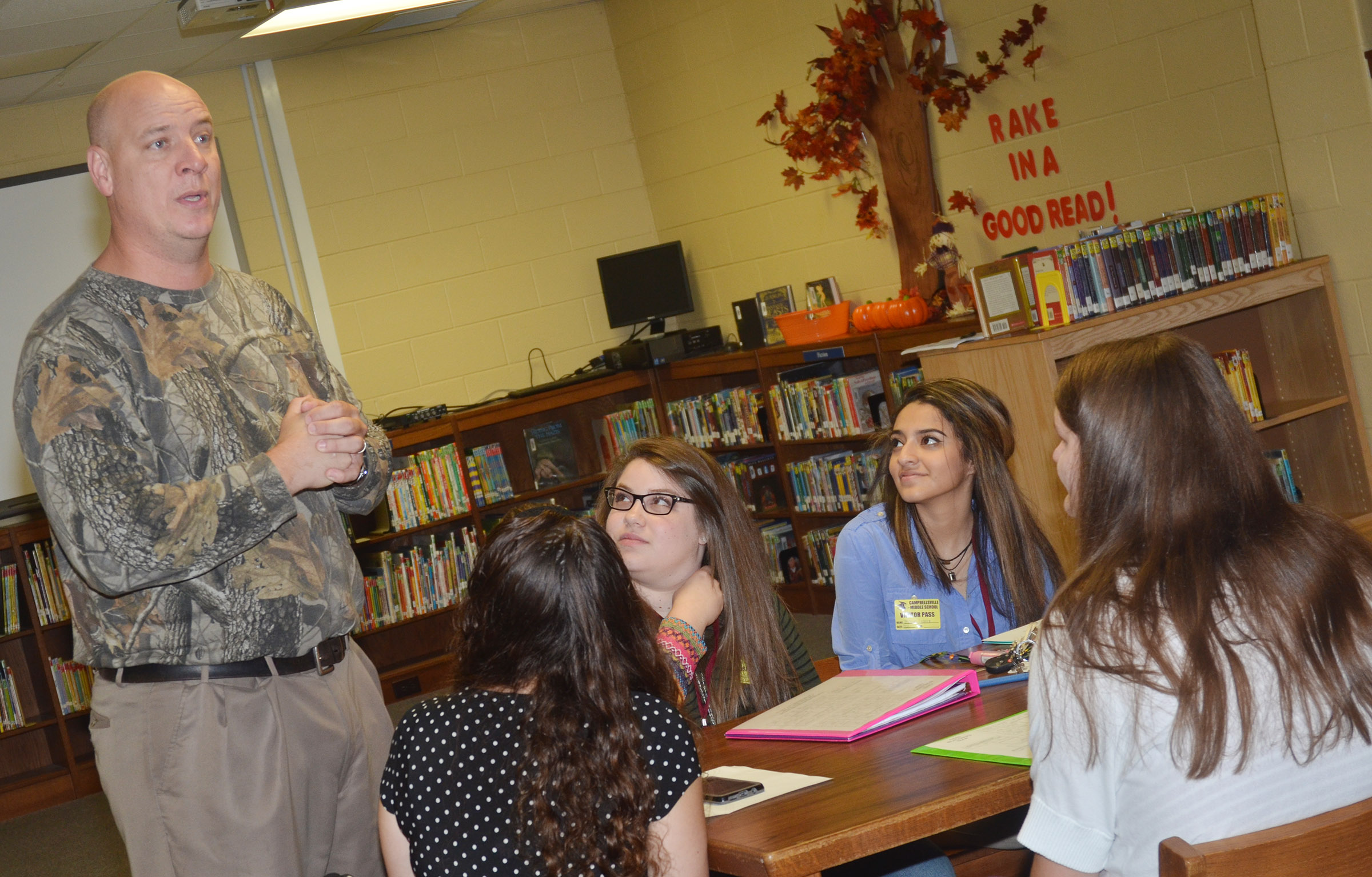 CHS Principal David Petett talks to Campbellsville University education students about what it's like to be a teacher.